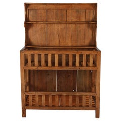 "French Country Style Pine ""Egouttoir"" Draining Rack Cupboard, Early 1900s"