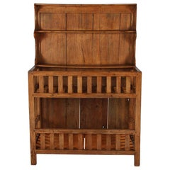 """French Country Style Pine """"Egouttoir"""" Draining Rack Cupboard, Early 1900s"""