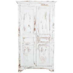French Country White Armoire