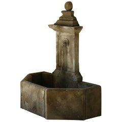 French Countryside Louis XIII Style Fountain Handcrafted in Pure Limestone