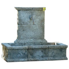 French Countryside Style Fountain Handcrafted in Pure Limestone from France