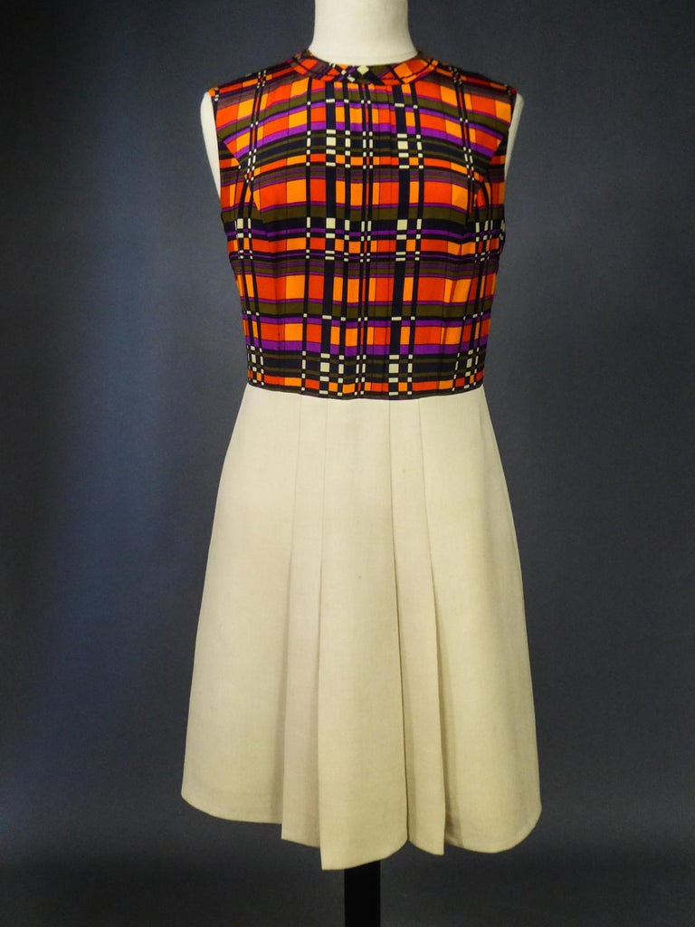 French Couture Dress and Jacket in the style of Balmain Circa 1972 For Sale 11