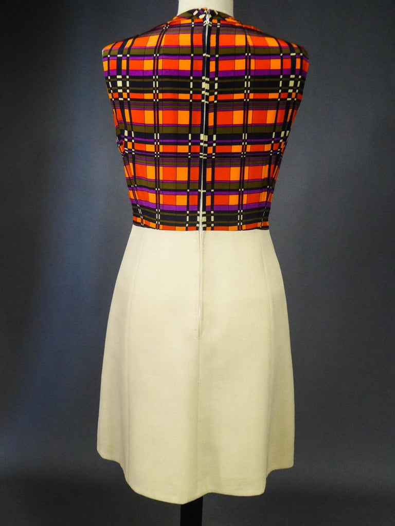 French Couture Dress and Jacket in the style of Balmain Circa 1972 For Sale 13