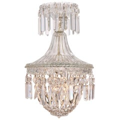 French Crystal Antique Chandelier in the Manner of Baccarat