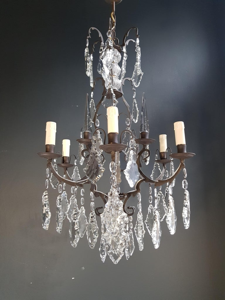 French Crystal Chandelier Antique Ceiling Lamp Lustre Art Nouveau Lamp 10