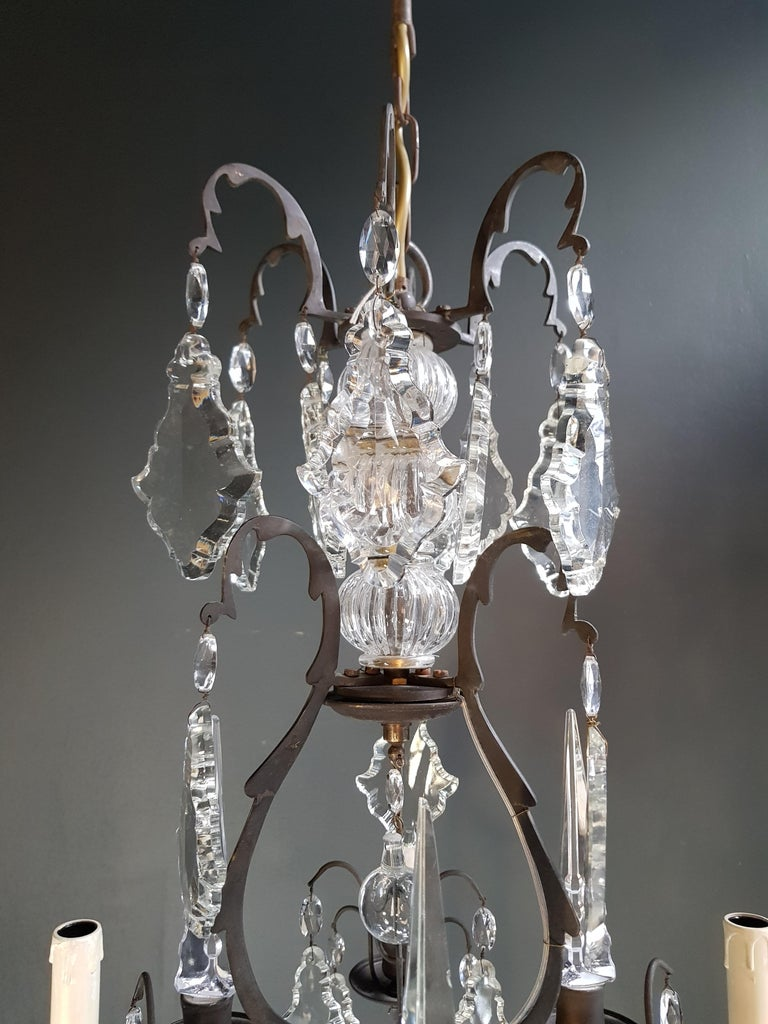 French Crystal Chandelier Antique Ceiling Lamp Lustre Art Nouveau Lamp 3
