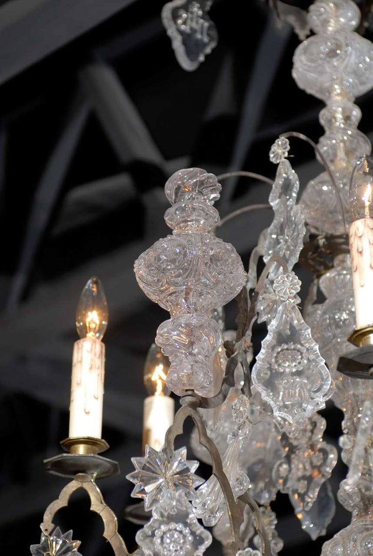 French Baroque Revival Six-Light Crystal Chandelier from a Church, circa 1860 For Sale 2
