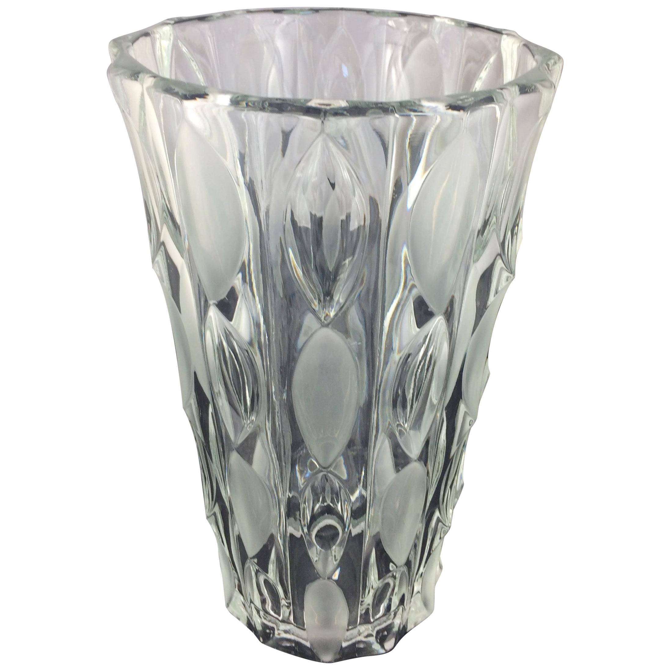 Contemporary French Clear Crystal Vase