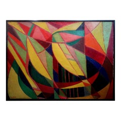 French Cubist Oil on Canvas Signed Roger Carle