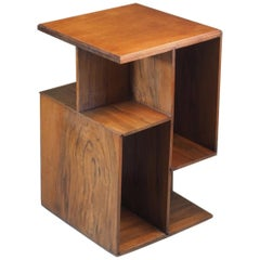 French Cubist Side/End Table