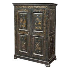 French Cupboard Chinese-Lacquer Style