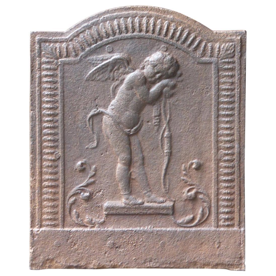 French 'Cupid' Fireback, 19th Century