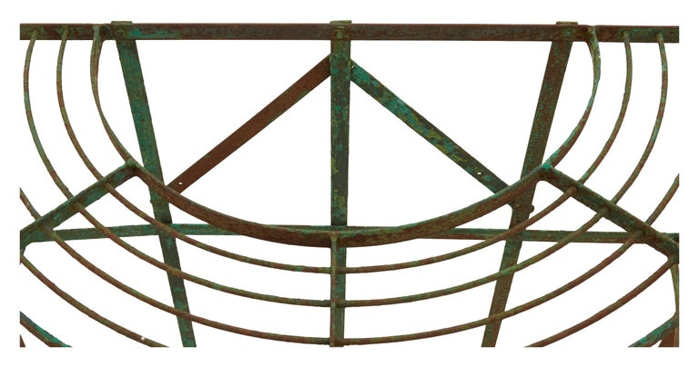 French Curved Green Iron Plant Stand For Sale 1