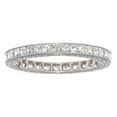 French Cut 1.43 Carat Diamond Platinum Ring