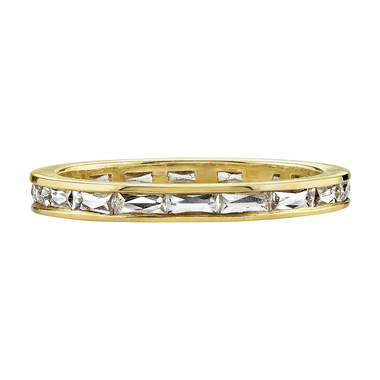 Handcrafted Channel Set French Cut Diamond Eternity Band.