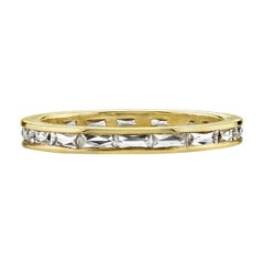 French Cut Diamond Channel Set 18 Karat Gold Eternity Band