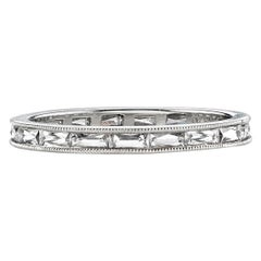 Approx. 0.90 Carat French Cut Diamonds Set in a Platinum Eternity Band