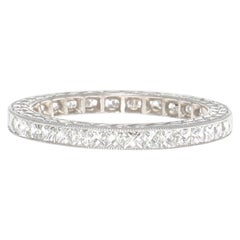 French Cut Diamond Platinum Eternity Band Ring