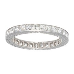 French Cut Diamonds Platinum Eternity Band