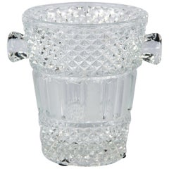French Glass Champagne Bucket, 20th Century