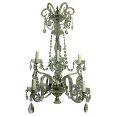 French Cut-Glass Chandelier