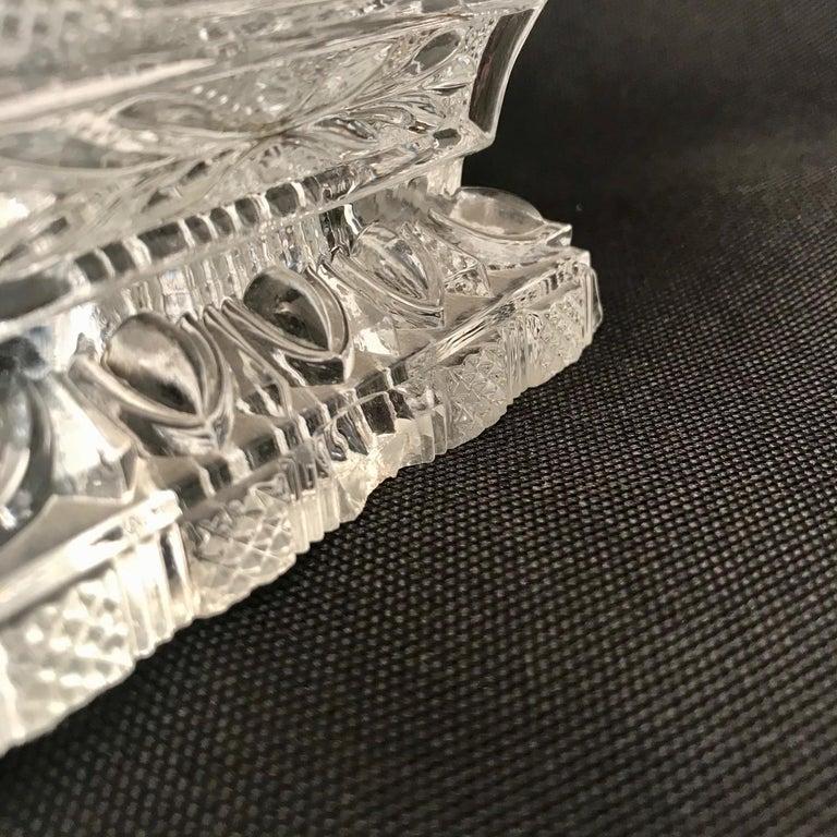 French Cut Lead Crystal Dresser Casket For Sale 2