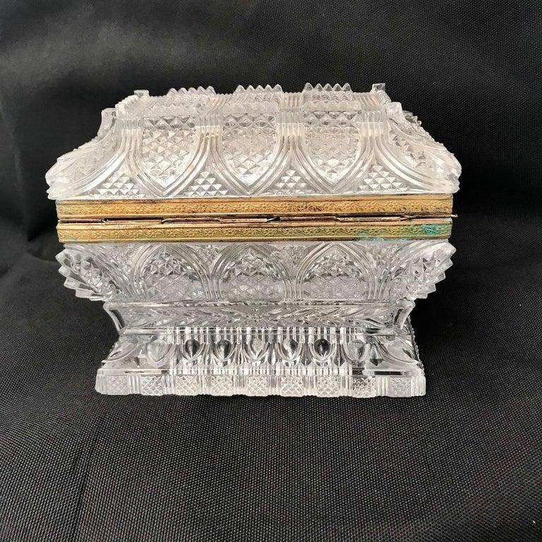 French Cut Lead Crystal Dresser Casket For Sale 5