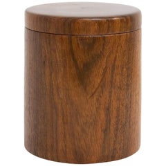 French Cylindrical Wood Box, circa 1960
