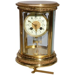 French D'Argent for Bailey, Banks and Biddle Crystal Regulator Clock, circa 1900