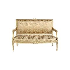 French Deauville Louis XVI Sofa, 20th Century