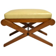 French Deco Bench / Footstool, circa 1930 Made in France