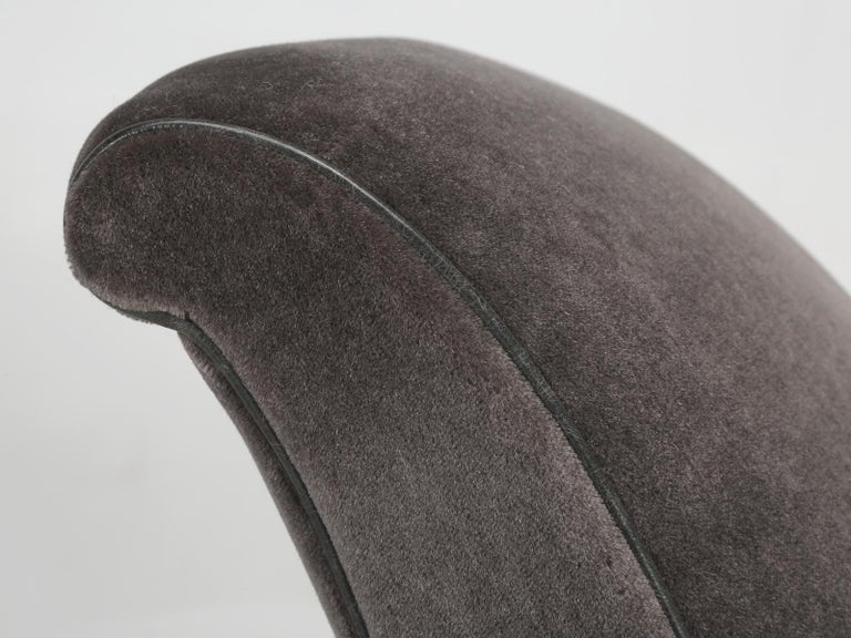 Mid-20th Century French Deco Club Chair Restored in Mohair For Sale