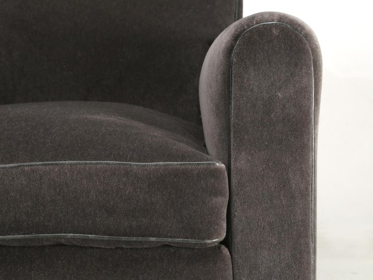 French Deco Club Chair Restored in Mohair For Sale 2