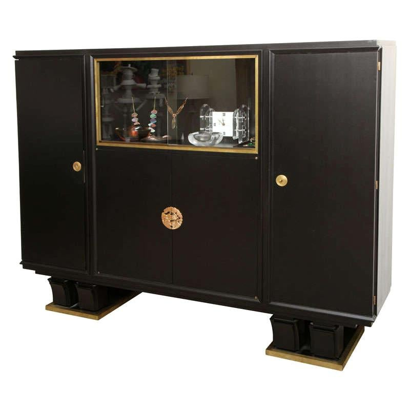 Exceptional Ebonized French Deco Cabinet