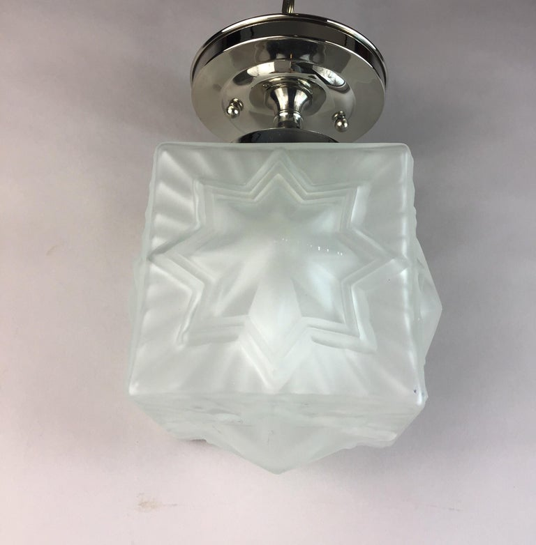 Mid-20th Century French Deco Nautical Star Flushmount For Sale