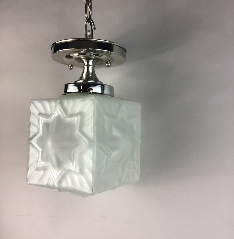 French Deco Nautical Star Flushmount For Sale 2