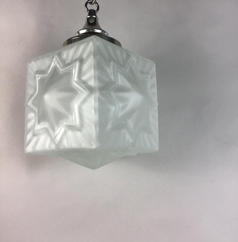 French Deco Star Nautical Pendant For Sale 2