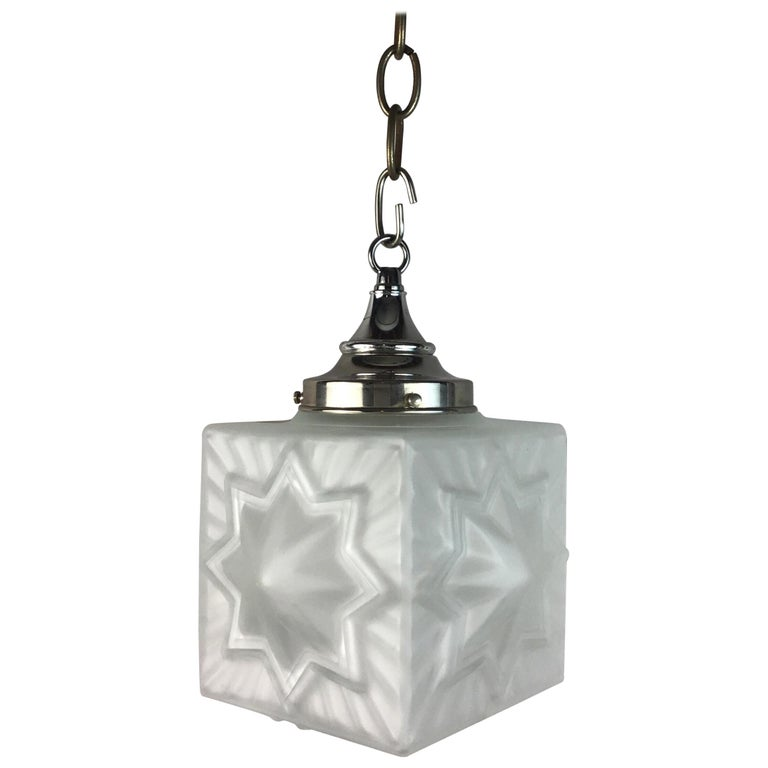 French Deco Star Nautical Pendant For Sale