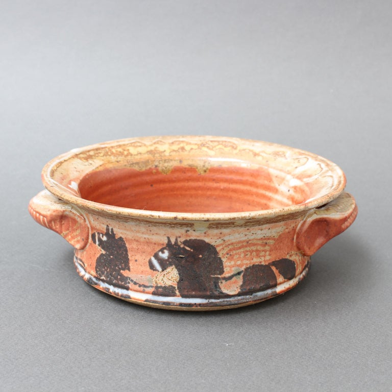 French Decorative Ceramic Bowl with Horse Motif 'circa 1950s' For Sale 4