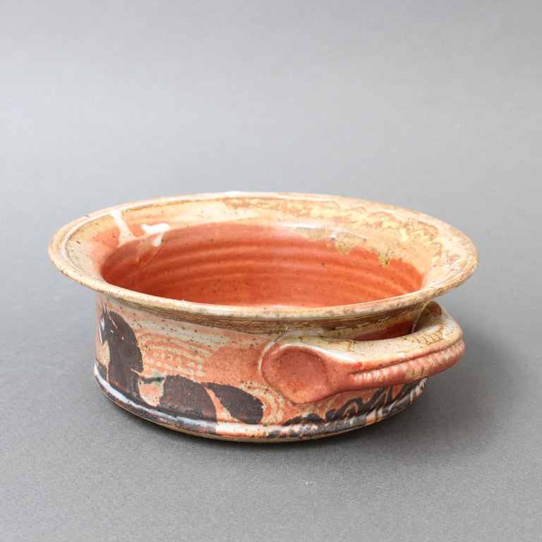 French Decorative Ceramic Bowl with Horse Motif 'circa 1950s' For Sale 5