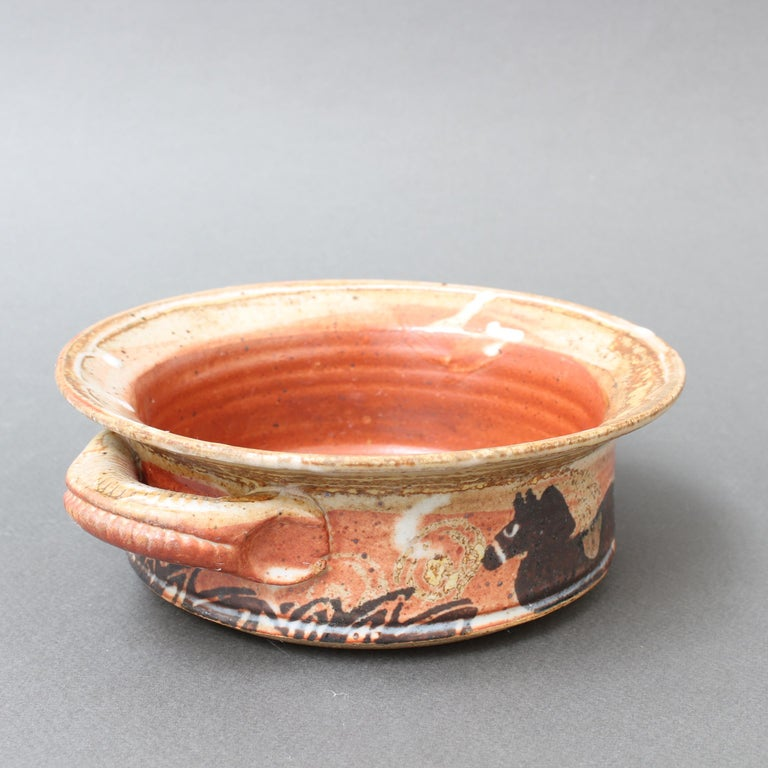 French Decorative Ceramic Bowl with Horse Motif 'circa 1950s' For Sale 6
