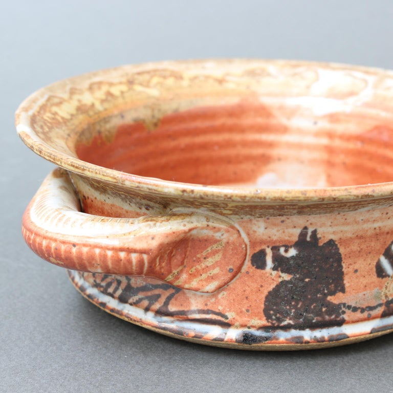 French Decorative Ceramic Bowl with Horse Motif 'circa 1950s' For Sale 7