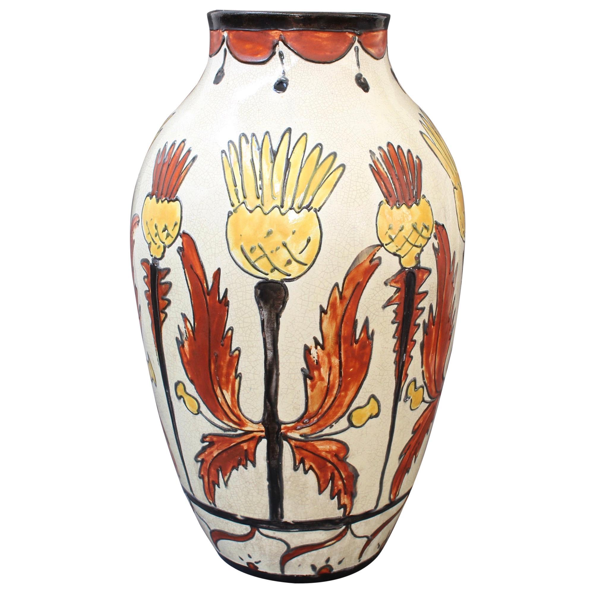 French Decorative Ceramic Vase 'circa 1940s'
