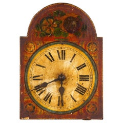 French Decorative Painted Clock Face, 19th Century