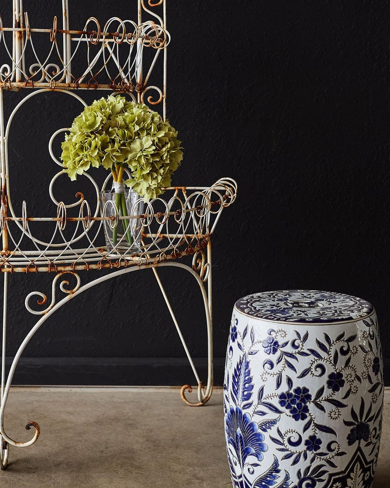 French Demilune Three-Tier Iron Wire Plant Stand For Sale 5