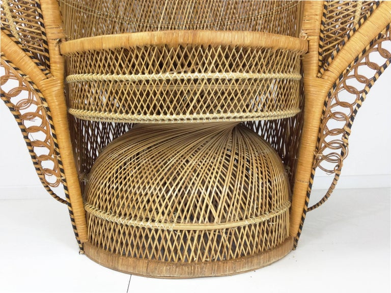 French Design Emmanuelle Extra Large Wicker Armchair from ...