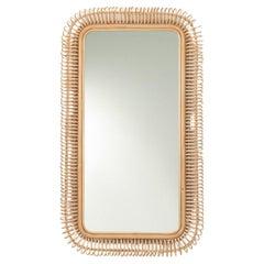 French Design Large Rattan Mirror