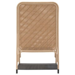 French Design Rattan and Handmade Wicker Cane Screen Divider with Shelves