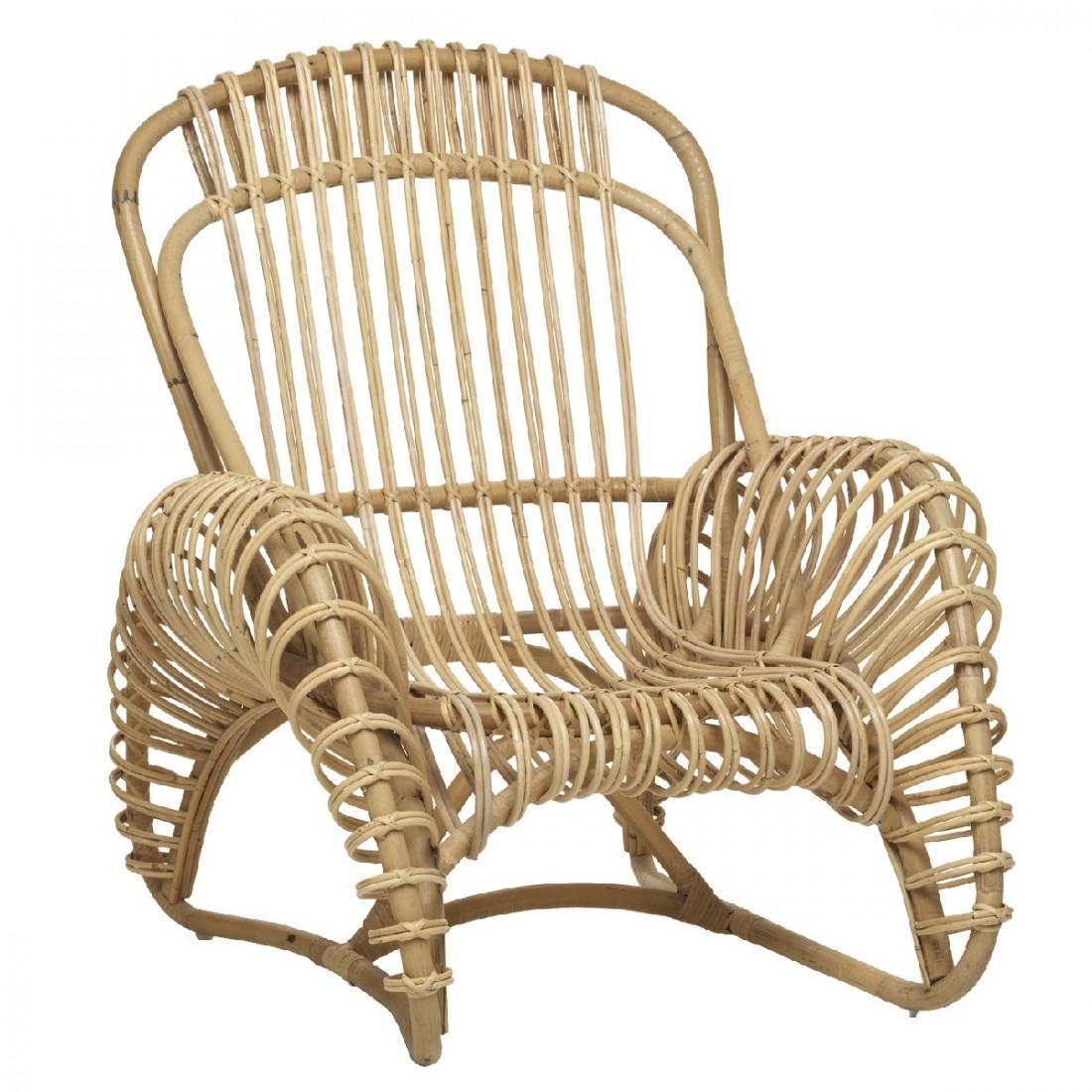 French Design Rattan Armchair