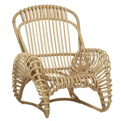 French Design Rattan Armchair